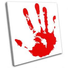 Blood Hand Print Illustration - 13-1297(00B)-SG11-LO